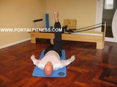 Círculos a 1 Piernas. Pilates Mat. Posición 1