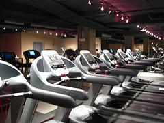 Entrenamientos cardiovasculares en la sala de fitness